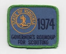 1974 Recruiter Patch, Governor's (Virginia) Roundup For Scouting, Cloth Back