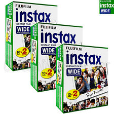 60 PCS Fujifilm INSTAX WIDE Instant film picture for camera 100/200/210/300 BOX