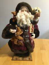 "Grandeur Noel 2000 Santa Claus  16"" Collector's Edition Teddy Bear Santa No Box"