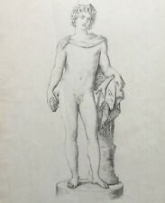 Academic Drawing of Bacchus, late 19th century
