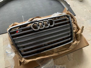 AUDI OEM 13-15 S7 Front Bumper Grille Grill-Center 4G8853651B1RR NEW