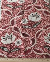 "Antique 18thC French Hand Blocked Toile de Jouy Cotton Fabric~L-19"" X W-9"""