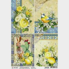 Ciao Bella Rice Paper Sheet Sicilia Cards Package of 5 New