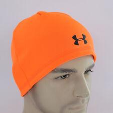 Under Armour UA Camo Outdoor Fleece Beanie Mens Coldgear Hat Run Winter Orange