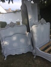 More details for a matching pair of antique french rococo beds, circa 1880. courier available
