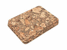 Certified Cork Rectangular Placemats Table Mats Dining Iceberg Pattern-Pack of 4