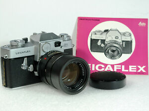 LEICAFLEX 35mm Film SLR w/ ELMARIT-R 2.8/90 1-CAM Lens, Cap, and Instructions!
