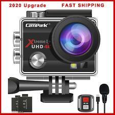 4K Action Camera EIS 20MP WiFi External Microphone Remote Control Campark 2020