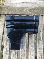 RON2 Black Floplast Niagara Ogee Gutter Left Hand Stop End Outlet