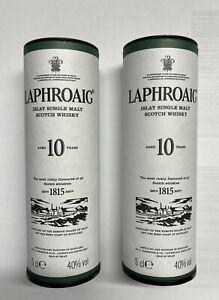 Konkursmasse 2x50ml !  LAPHROAIG 10 Jahre alt single malt Scotch Whisky