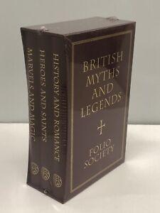 British Myths and Legends Folio Society 3 Volume Set *Brand New & Sealed* - HDO