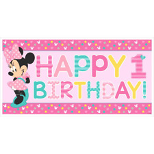 Disney Minnie Mouse Fun to be One 1st Birthday Party Large Plastic Banner