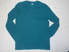 Men's Rock & Republic Blue Green Long Sleeve V Neck Top Size Medium