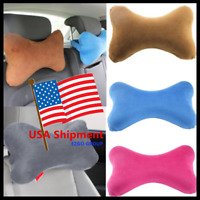Dog Bone Car Neck Pillow Head Rest Memory Foam Travel Trip Posture Support