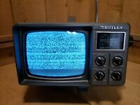 Vintage Bently Portable 100C TV Television Battery Operated Tested and Works