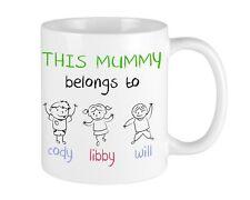 This Mummy BELONGS MUG Mum Birthday Gift Mothering Sunday CUP Personalised