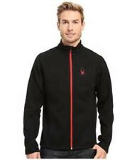 Men's Spyder Outbound Full Zip Core Mid Weight Sweater Jacket Ski Black Size M