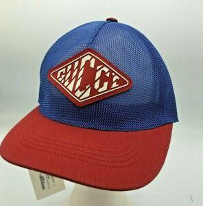 Gucci Baseball Hat Drill Cervia Gomma Iniett Red/Blue Nylon Mesh Logo Size L
