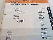 1977 Johnson 175 200 hp Model 175TL77 TXL77 200TL77 TXL77 Outboard Servic Manual