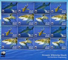 Grenada 2014 MNH Oceanic Whitetip Shark WWF 16v M/S Sharks Marine