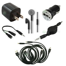 7 pc Kit USB Cable+Car+Wall Charger for Sony Playstation PSP-110 1001 1000 2000