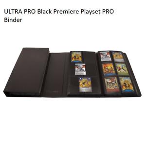 ULTRA PRO Black Premiere Playset PRO Binder 480 Pokemon DBS MTG YGO