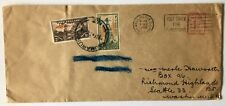 New Zealand cover 1949 Taumarunui with 2 Health values posted to USA