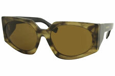 Burberry Women's BE4306 BE/4306 3843/73 Striped Brown Oval Sunglasses 60mm