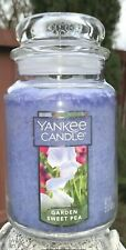 ☆☆GARDEN SWEET PEA☆☆ LARGE YANKEE CANDLE JAR~FREE SHIP☆☆FLORAL SCENTED CANDLE