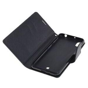 Book Case Fancy Etui Handytasche Tasche Hülle f. LG K20 (Schwarz)