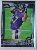 MAX WILLIAMS - 2015 Chrome Topps Rookie BLACK REFRACTOR /299 - Ravens RC