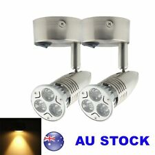 2X 12V Warm White LED Cabinet Bed Side Light Reading Wall Bedside Lamp Switch On