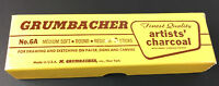 Vintage Grumbacher Artists' Charcoal 5 full sticks No 6A Medium Soft