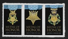 US Scott #4988a, Strip of 3 2015 Medal of Honor VF MNH