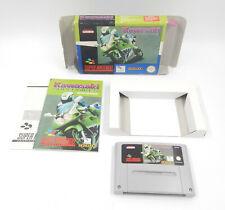 SNES / Super Nintendo - Kawasaki Superbikes - PAL - Modul + Box + Anleitung