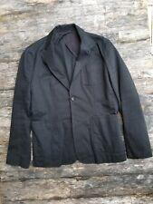 Steven Alan slim fit [42 R] black cotton twill sport coat blazer made in USA