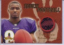 TRAVIS TAYLOR 2000 Fleer Showcase Touch Football RELIC Football RAVENS