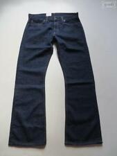 Indigo -/dark-washed Herren-Jeans mit mittlerer Bundhöhe Hosengröße W33