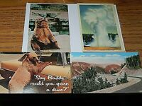 Yellowstone National Park Vintage post cards lot of Four unposted
