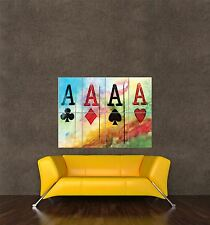 GIGANTE STAMPA POSTER PITTURA CARD ACE CLUB SPADE CUORE Diamond pdc034