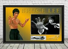 Bruce Lee Signed Photo Print Autographed  Poster Memorabilia