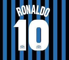 Ronaldo 10 Inter Milan 1997-1998 Home Football Nameset for shirt