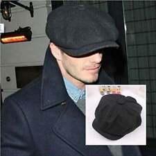 Wool Blend Tweed herringbone Gatsby Cap Hat Mens Ladies Flat 8 Panel Newsboy Hat