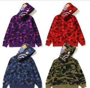 2020 Kids Boy Girl Camo Shark WGM Long Sleeve Sweatshirts Hoodies