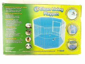 "Clean Living Playpen Large 8 Panel Small Animal Item 02072 18""x29""x43"" diameter"