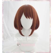 My Boku no Hero Academia Ochako Uraraka Short Cosplay costume wig+wig cap