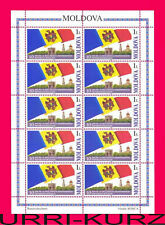 MOLDOVA 2001 Independence 10-th Anniversary Flag Coat of Arms m-s Sc388 MNH