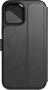 GENUINE TECH21 EVO WALLET FLIP CASE COVER FOR IPHONE 12 / 12 PRO - BLACK