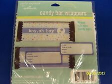 Baby Shower Cute Blue Gift Party Favor Candy Bar Wrappers - Boy