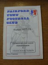 01/04/1978 Fairford Town v Thatcham Town (Item has no apparent faults).